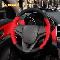 Genuine Leather Car Steering Wheel Cover Car Accessories For Chevrolet Cruze Sedan Hatchback 2009 2010 2011