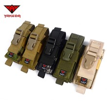 2016 Sports 1000D Nylon Camouflage Tactical MOLLE Hunting Holster Cartridge Clip Bullet Tool Knife Belt Pouch Sheath