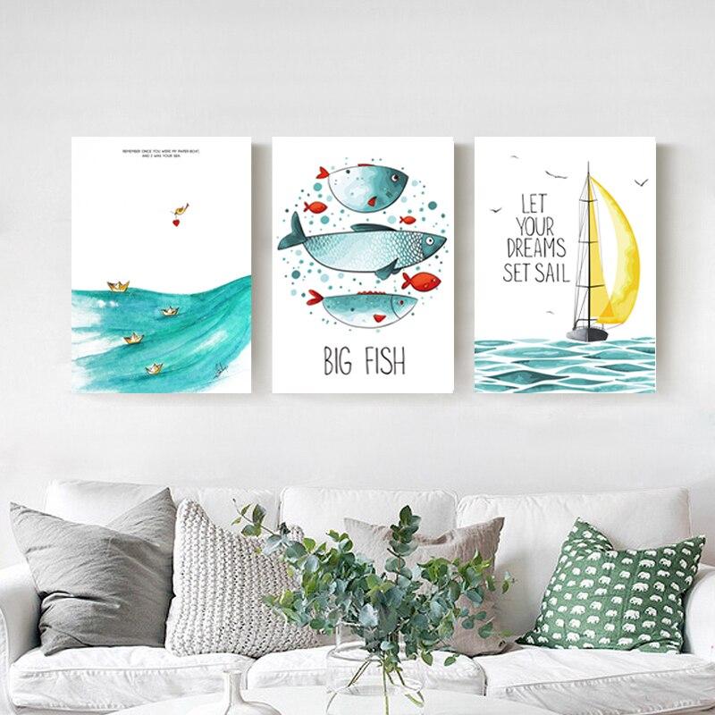 Moderne Dekoration Poster Kunst Leinwand Drucken Seascape Bild Kinder Wand  Bilder Für Wohnzimmer Abstrakte ölgemälde Keinen Rahmen    A.mariuszkobiela.me