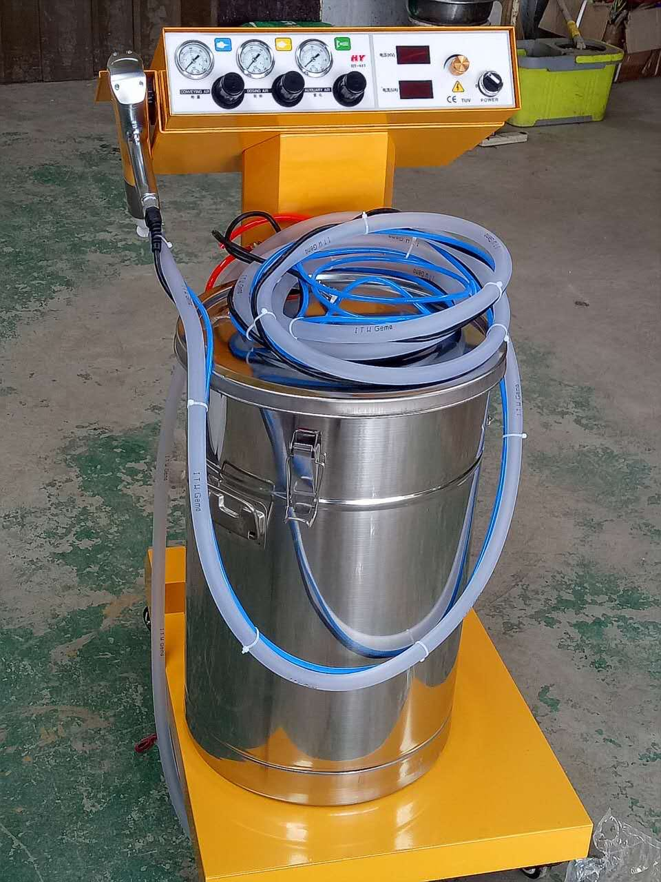 Electrostatic Spray Powder Coating Machine High pressure spray molding machine ELECTROSTATIC DUSTER SPRAYER wx 958 electrostatic powder coating machine wx 958 electrostatic spray powder coating machine spraying gun paint
