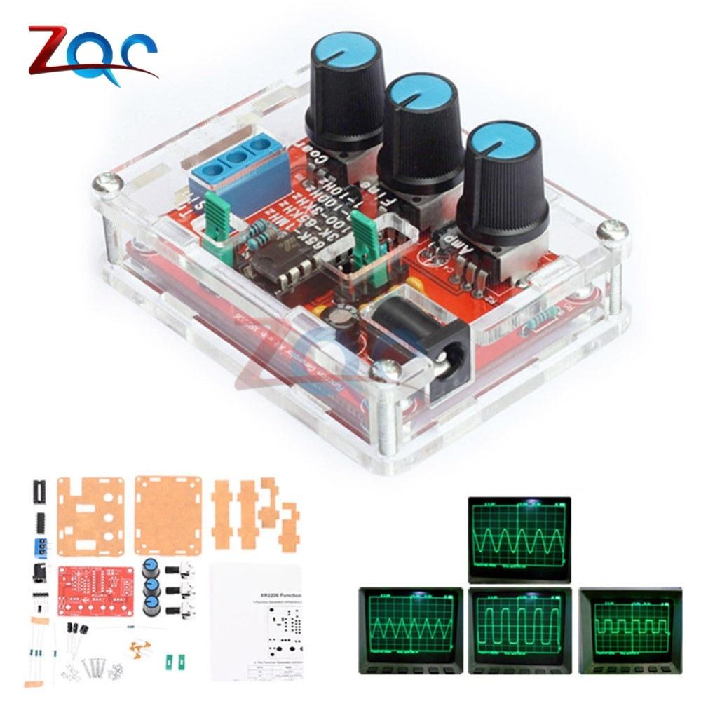 1 hz-1 mhz xr2206 função gerador de sinal kit diy seno/triângulo/saída quadrada gerador de sinal amplitude de freqüência ajustável