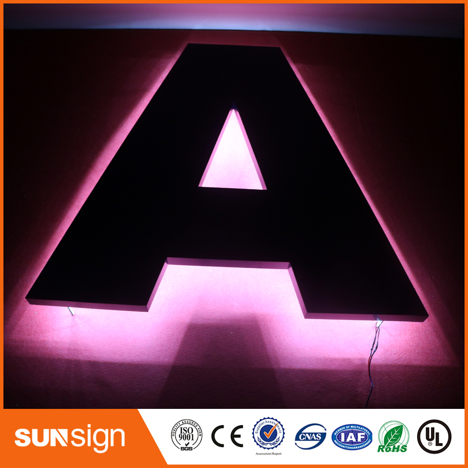 Custom LED Backlit Stainless Steel Letters Sign