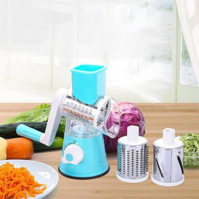 Kitchen Gadgets Manual Vegetable Cutter Slicer Kitchen Accessories Multi Function Round Mandolin Slicer Potato Cheese