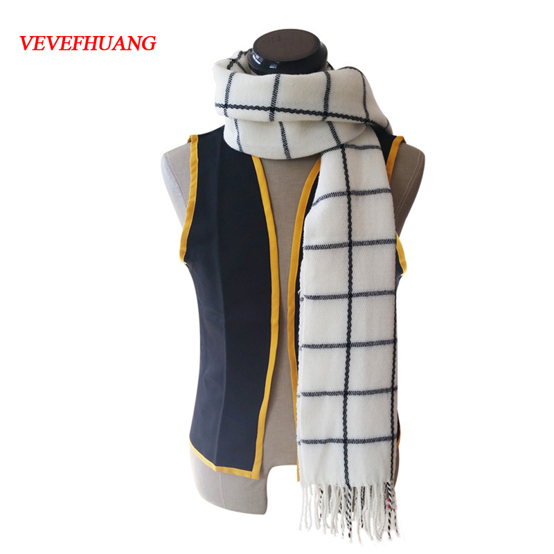 VEVEFHAUNG Anime Scarf Fairy Tail Role Natsu Dragneel Cosplay Costume Scarves Neckerchief Warm