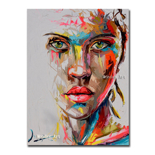 Hand painted Abstract Knife Portrait Oil Painting Dropshipping Modern Big Size Canvas picture Wall Art  Posters painting