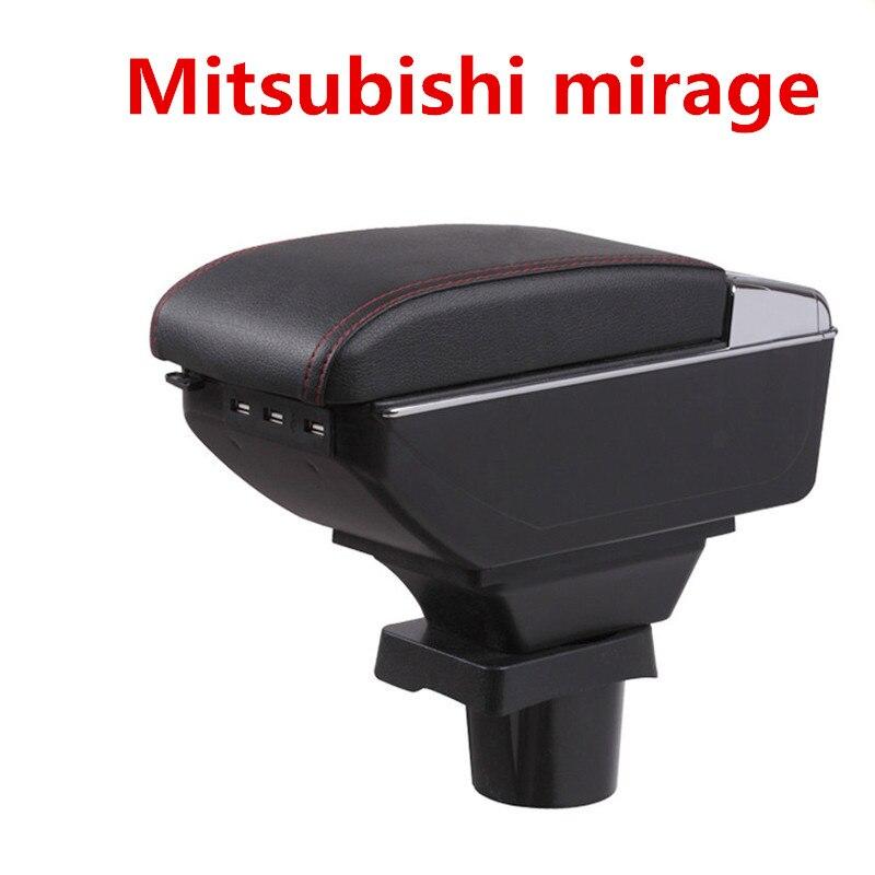 Pour Mitsubishi mirage Space Star boîte accoudoir central Magasin contenu boîte De Rangement avec porte-gobelet cendrier USB interface