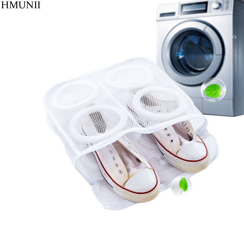 HMUNII Travel Supplies Mesh Laundry Shoes Bag Box Travel Accessories Pouch Ventilation Organizer Hanging shoe bag цена 2017