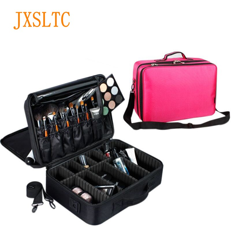 Professional Make up Cosmetic Bag Large Capacity Womens Travel Organizer for a bag Makeup kits Cosmetic Brush Storage suitcaseProfessional Make up Cosmetic Bag Large Capacity Womens Travel Organizer for a bag Makeup kits Cosmetic Brush Storage suitcase