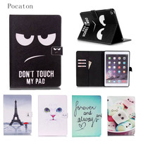 For Mini IPad Mini 4 Cover Case Smart Wallet Silicone Stand Case Girl Kids Gift Protect