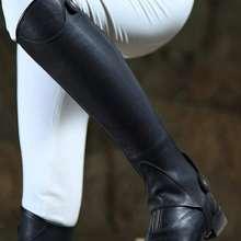 Horse Riding Half Chaps Full Soft Cow Leather Chaps Body Protector Equestrian Equipment Chaps Men Women Saddle Equitacio Haltern