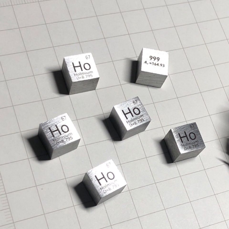 Rare Earth Holmium metal 99.9% Element Ho 10x10x10mm Density Cube pure in Periodic Element Rare Earth Holmium metal 99.9% Element Ho 10x10x10mm Density Cube pure in Periodic Element