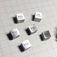Rare Earth Holmium metal 99.9% Element Ho 10x10x10mm Density Cube pure in Periodic Element