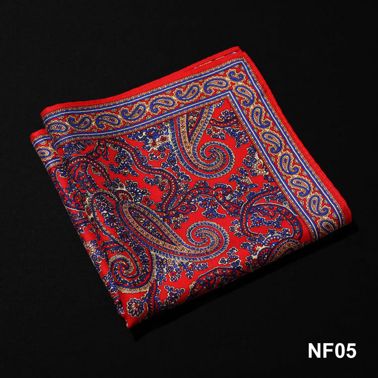 NF05 HN10R Red Navy Blue Paisley