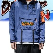 Новая мужская мода толстовка с капюшоном Dragon Ball Печать с длинным рукавом пальто ветровка осень