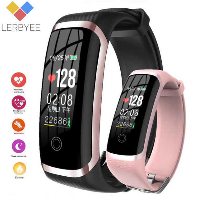 Lerbyee M4 Fitness Tracker Heart Rate Monitor NRF52832 Waterproof Call Reminder Smart Bracelet Men Women Watch for iOS Android