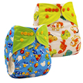 5Pcs/lot Washable Baby Cloth Diapers Baby Girls Boys Diaper Cover Wrap Cartoon Print Baby Nappy Reusable Baby Cloth Diapers