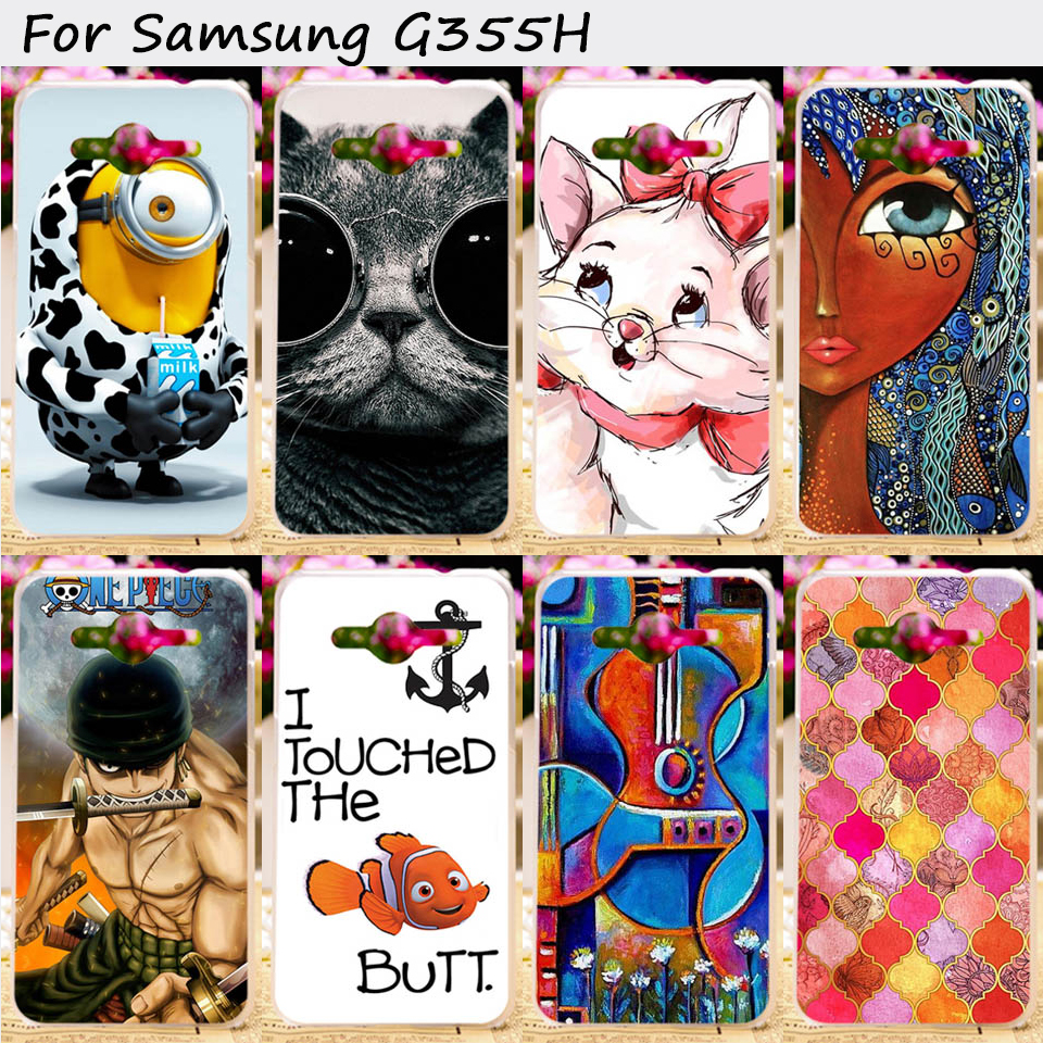 Plastic and TPU Phone Case Cover For Samsung Galaxy Core II 2 G355M Dual SIM G355H Core2 G355 Cases Puppet Doll Cell Phone Shell
