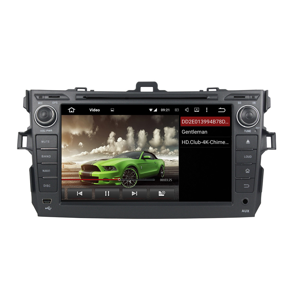 HD 1024X600 Android 7.1.2 Quad Core 2GB RAM GPS NAVI Radio Car DVD Player Head Unit For Toyota COROLLA 2006-2011