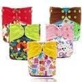 El nuevo venir mejor venta del bebé pañales reutilizables pañal en Filipinas, nuevo diseño de tela del pañal con botón de color y fichas de color