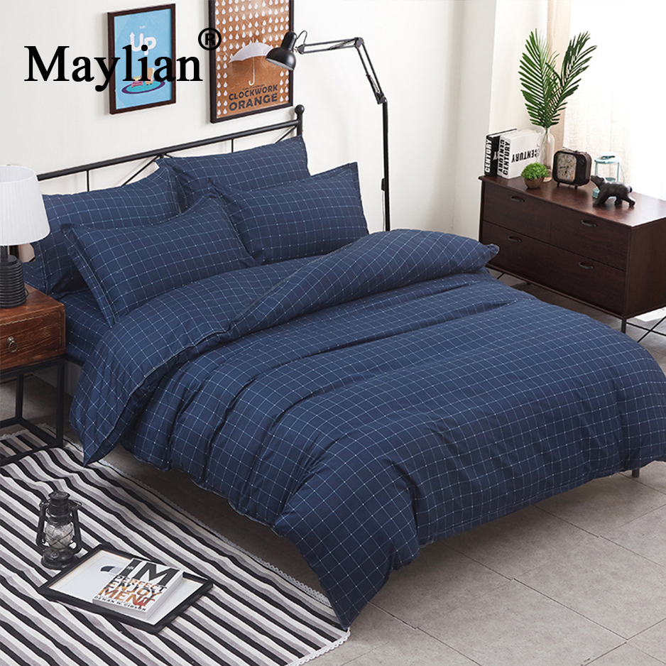 Home Textile 4pcs Bedding Sets Duvet Cover Bed Sheet Pillow Cover Polyester  Autumn Winter Warm Brand 2018 Be1025