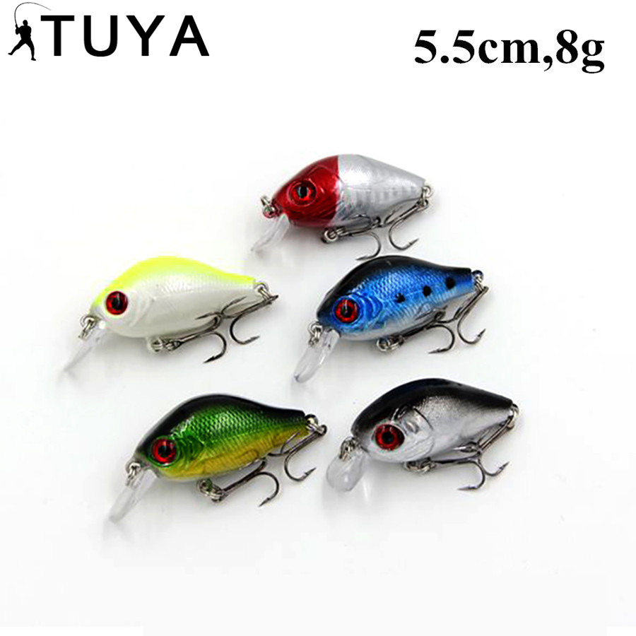5PCS / Set Spinner Minnow Fishing Lure 5.5cm 8g Wobblers plopper - Ձկնորսություն