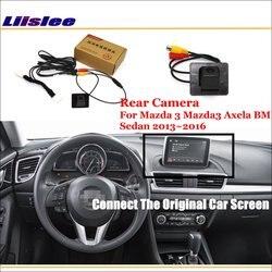 עבור מאזדה 3 Mazda3 Axela BM סדאן 2013 ~ 2016/רכב מבט אחורי הפוך מצלמה סטים/RCA & מקורי מסך תואם