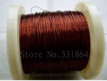 Free shipping 1.0mm 50m QZY 2/180 New polyester imide enameled copper wire copper 180 degree heat
