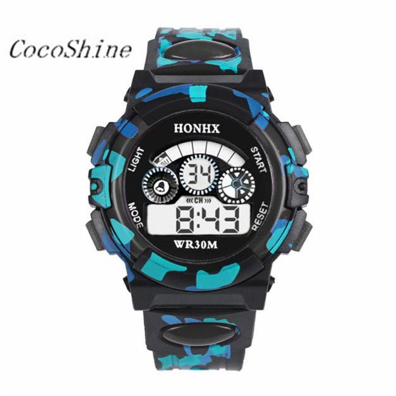 Kids Children Girl Boy Watches Wrist Watch Moment Clock Outdoor Multifunction Waterproof Sports Electronic Watches 20