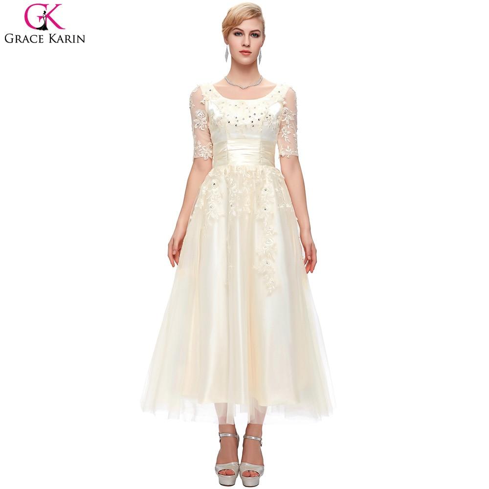 Black Lace Wedding Dress Plus Size Naf Dresses: Half Sleeve Plus Size Wedding Dresses 2017 Grace Karin
