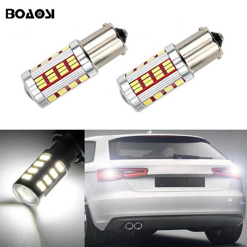 BOAOSI 2x Error Free LED Bulbs For Backup Reverse Light 1156 p21w CREE Chip For AUDI A6 S3 S4 RS4 RS6 2 x error free super bright white led bulbs for backup reverse light 921 912 t15 w16w for peugeot 408