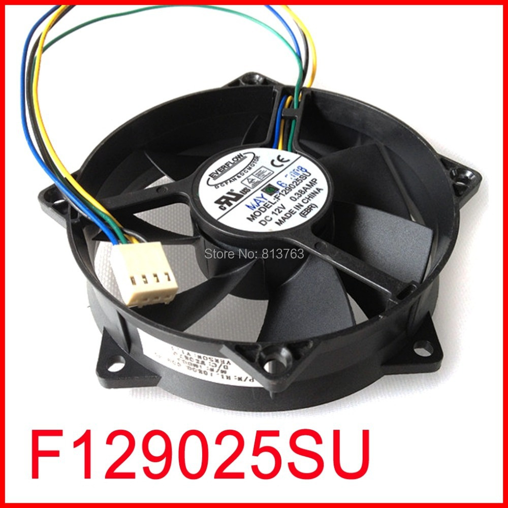 F129025SU 90x90x25mm ventilator rotund CPU PWM 12V 0.38A 4Pin Calculator ventilator răcire CPU
