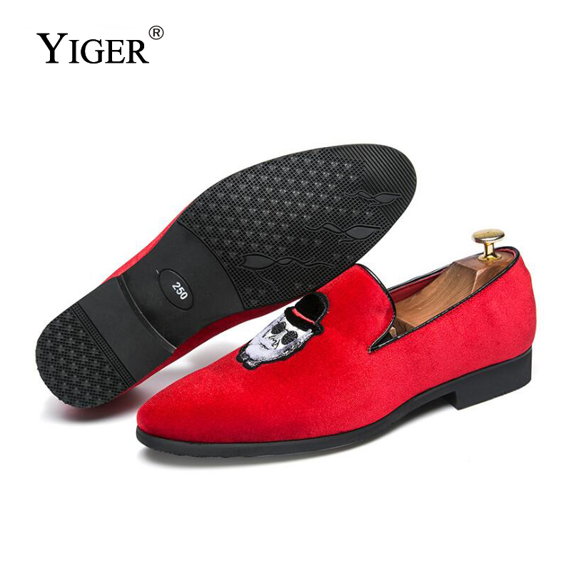 Casual Yiger Slip Loafers Nouveau Noir Black Chaussures Taille Loafers Homme Conduite D'affaires Grande Mocassins rouge red on Hommes De 0089 fwPn48xfrq