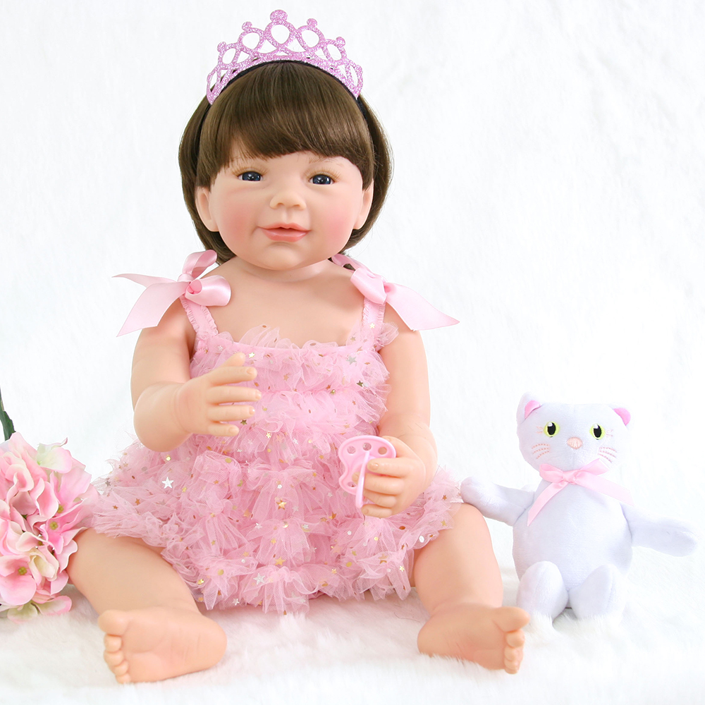 Handmade Collection Body Silicone Baby Alive Doll Reborn Silicone Girl Dolls for Children Girls Boys House Play Bedtime Doll Toy