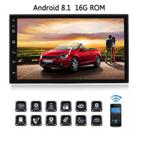 Android 8.1 2 Din Car Radio 7 inch 1024x600 Touch Screen Car Stereo GPS Navigation Car Multimedia MP5 Bluetooth Wifi SWC