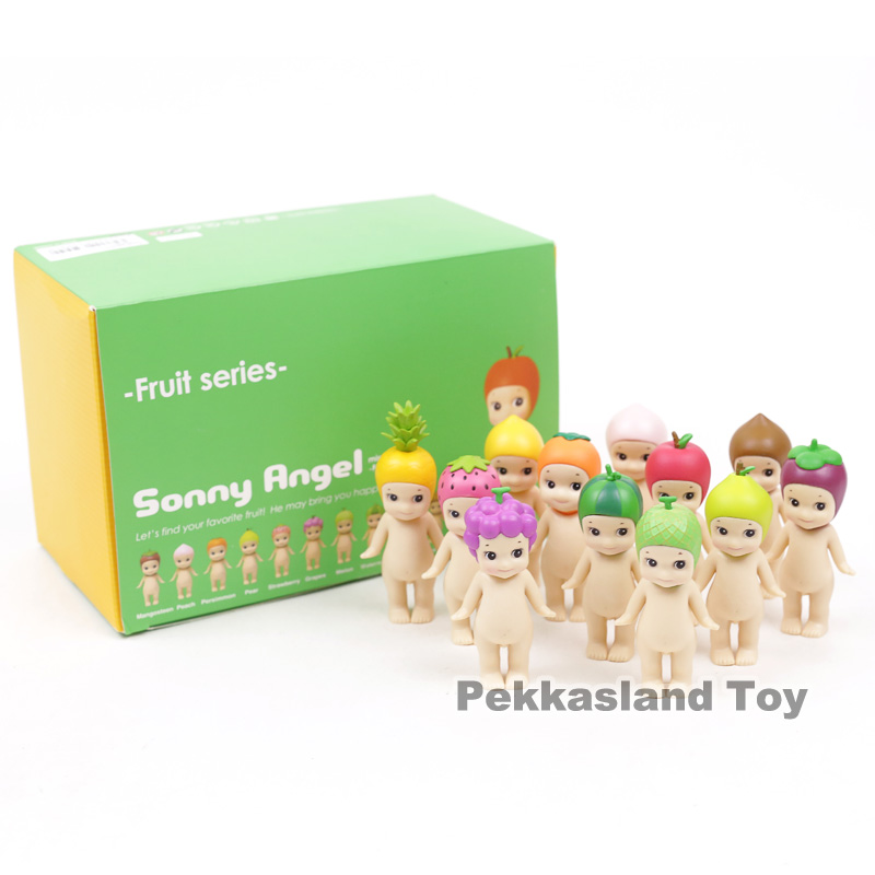 Sonny Angel Fruit Series Mini PVC Action Figures Collectible Model Toys Dolls Gift Complete Set of 12pcs 8cm sonny angel mini anime cosplay 25pcs set pvc action figures collectible model toys dolls kids gifts boxed holiday gifts