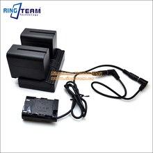 NP-F970 двухканальный адаптер + LP-E6 DR-E6 Переходник постоянного тока для Canon Камера 5D Mark IV III II 5D4 5DS R 6D 7D 7D Mark II 60 70D 80D