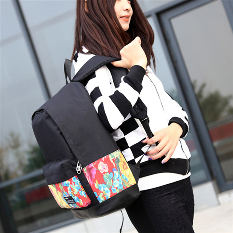 bb59268d23 Material Canvas . Type Vintage Black Lace Pattern. Package includes  1    Backpack Bag