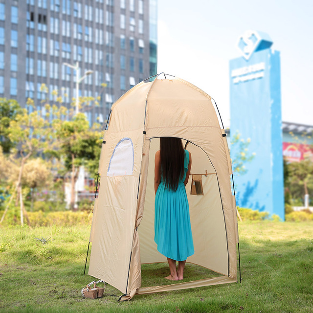 TOMSHOO C&ing Tent Outdoor Shower Tent Ship From RU Toilet Tent Bath Changing Fitting Room Beach & TOMSHOO Camping Tent Outdoor Shower Tent Ship From RU Toilet Tent ...