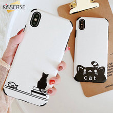 BEIJOS Gato Bonito Pattern Caso Telefone Macio Para iPhone 7 X XR XS MAX TPU Casos Para iPhone 6 6S Plus 7 8 Mais Relevo Back Covers(China)