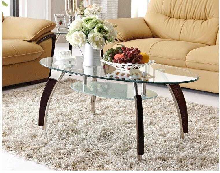 Free shipping stainless steel. Toughened glass. Transparent oval table. free shipping 50pcs stainless steel