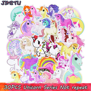 30Pcs Mixed Unicorn Cute Cartoon Sticker Dream Anime Kids Toy Stickers for DIY Laptop Phone Luggage Skateboard Bedroom Stickers