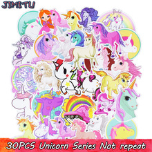 30Pcs Mješoviti Unicorn Slatka Cartoon Naljepnica Dream Anime Kids Toy Naljepnice za DIY Laptop Telefon Prtljaga Skateboard Spavaća soba Naljepnice