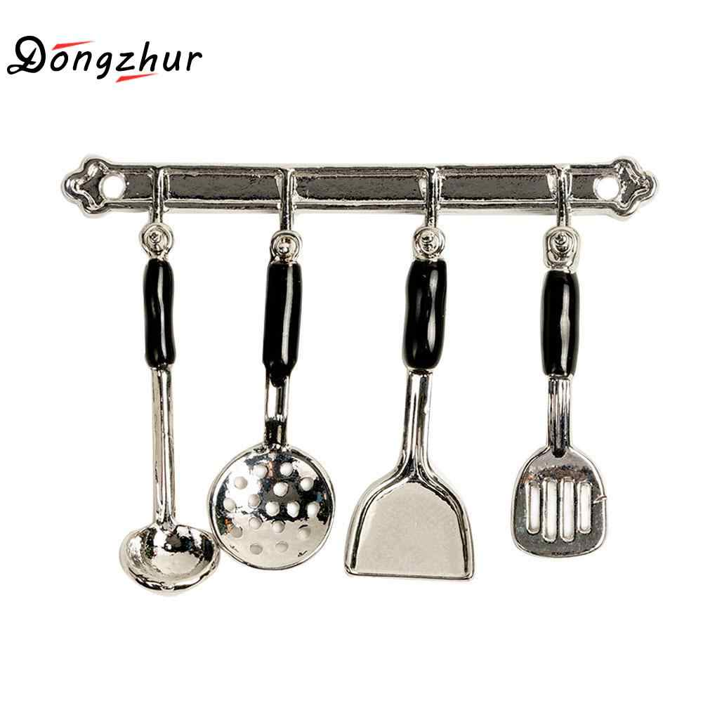 5pcs/Set Kitchen Dollhouse Miniature Mini Cookware Tools Miniaturas Casa De Munecas 1:12 DIY Dollhouse Accessories Kit