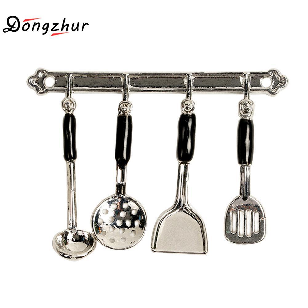 5pcs/Set Kitchen Dollhouse Miniature Mini Cookware Tools