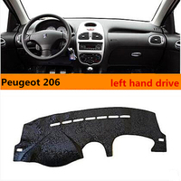 Hight Quality Left Hand Dirve Noble Style Car Dashboard Cover For Peugeot 206 Sunproof Cover For