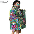 New Fashion Casual Women Camouflage Jacket Coat Long Sleeve Outerwear Spring Autumn Loose Long Coats Ladies Patch Basic Jackets