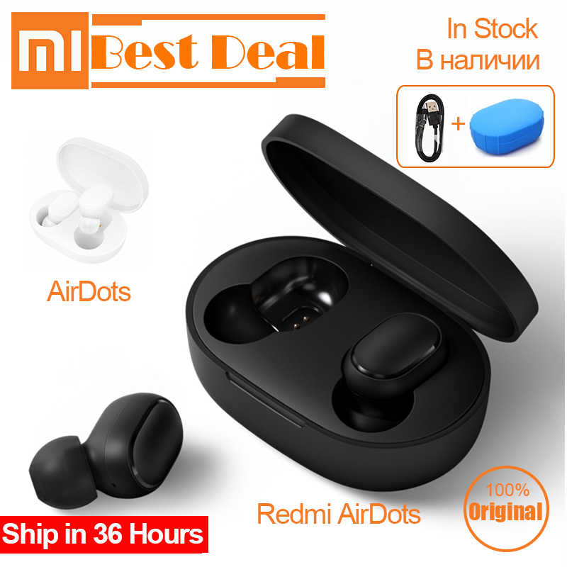 New Xiaomi Redmi AirDots Bluetooth Earphone TWS headset earbuds Handsfree Touch Control mi AirDots earphones for redmi iphone