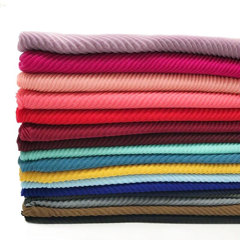 Купить модные плиссированные хиджабы элегантная длинная шаль накидка