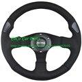 320mm Universal MOMO Steering Wheel Flat Model Real Leather Racing Car Steering Wheel