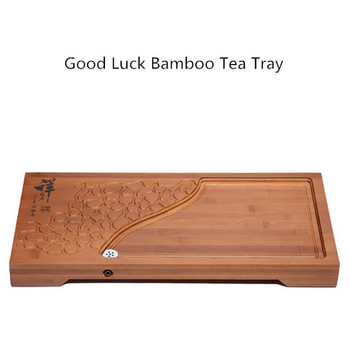 Creative Good Lucky Bamboo Drainage Tea Tray Home Office Chinese Kung Fu tea tray Coffee Table Decoration Gift Free Shipping